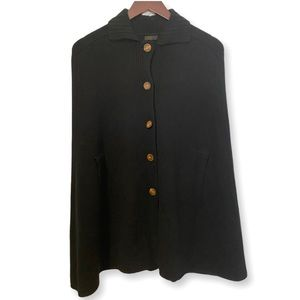 J. Crew Cape Poncho Jacket in Black One Size